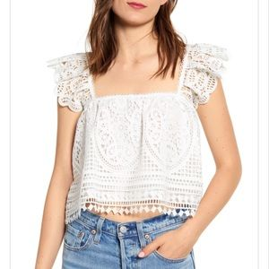 Endless Rose Off the Shoulder White Top